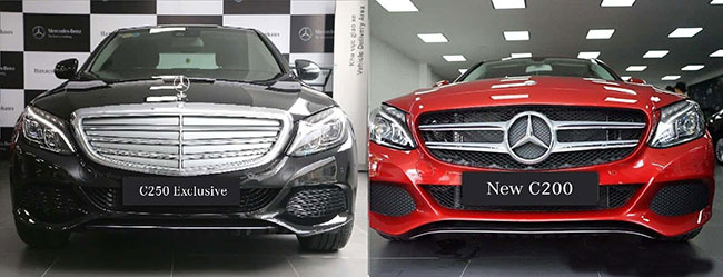 So sánh xe Mercedes C200 và C250